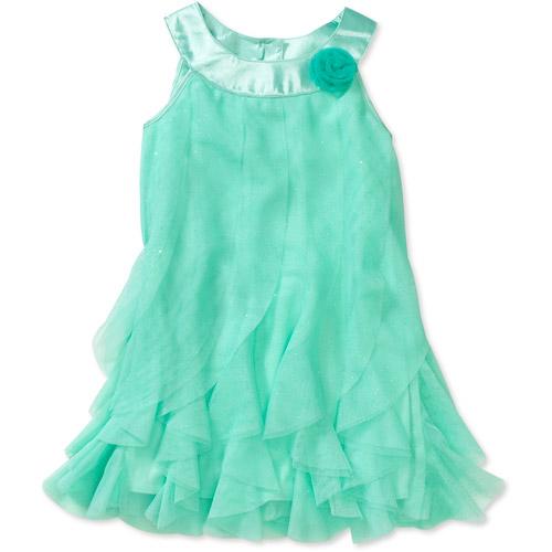 Healthtex Baby Girls Cascading Ruffle Chiffon Dress