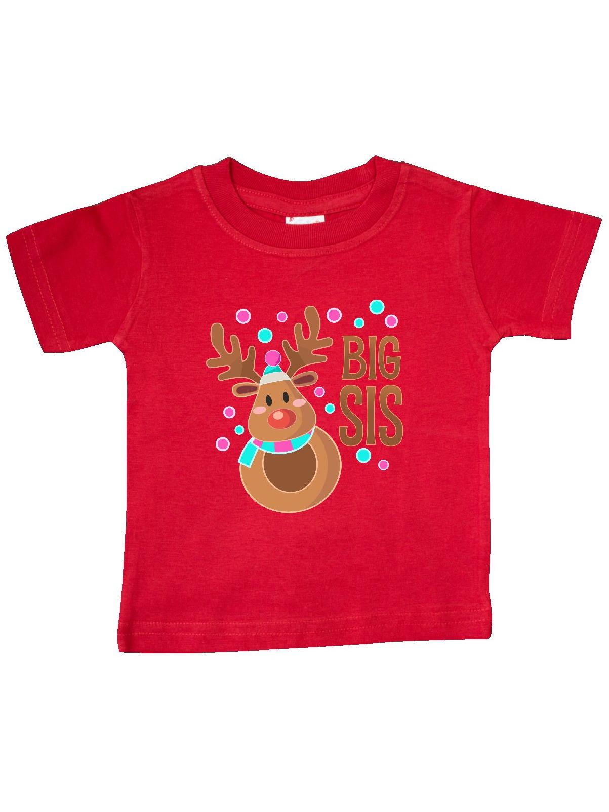 inktastic Big Sis Cute Reindeer Toddler T-Shirt