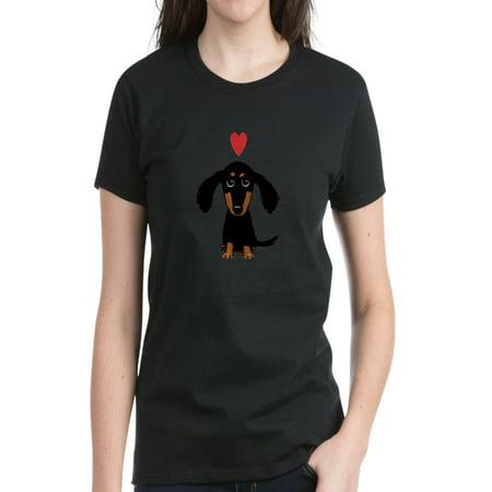 CafePress - Cute Dachshund Women's Dark T Shirt - Women's Dark