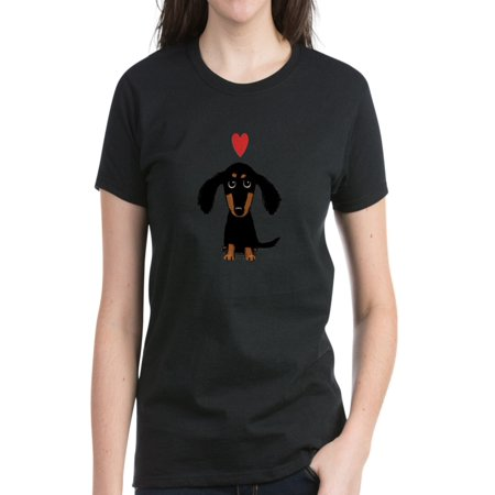 - CafePress - Cute Dachshund - Women's Dark T-Shirt