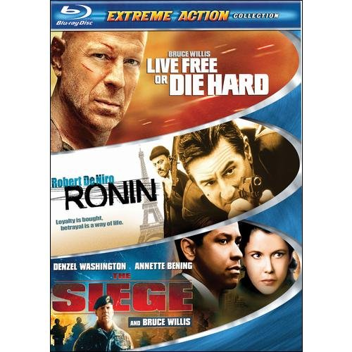 Extreme Action 3-Pack: Live Free Or Die Hard / Ronin / The Siege (Blu-ray) (Widescreen)