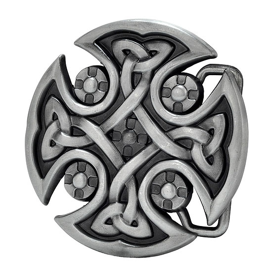 Buckle Rage Small Medieval Maltese Celtic Cross Belt Buckle, SILVER, 444