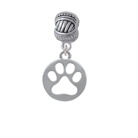 Cut Out Cross - Circle with Cut Out Paw - Large Rope with Cross Beads Charm Bead