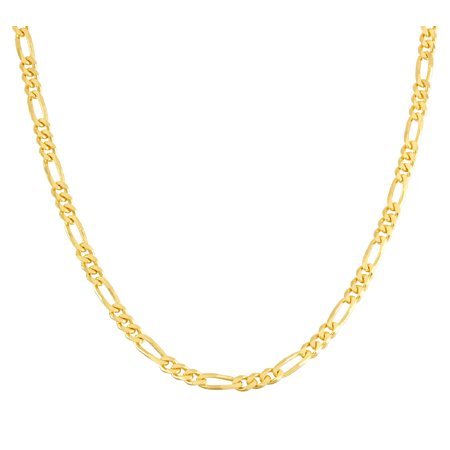 "Jordan Blue NYC 14k gold plated Sterling silver Men's 24"" figaro chain necklace"