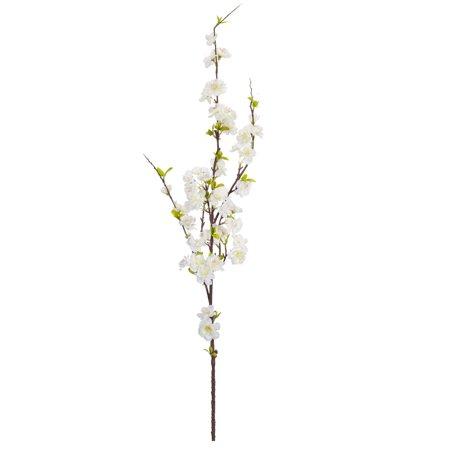 "Set of 12 White Apple Blossom Spray 50.5"""