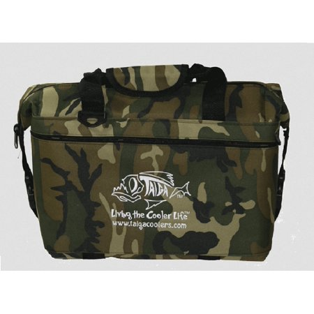 Taiga Coolers Camo Soft Sided Cooler With Taiga Bottle