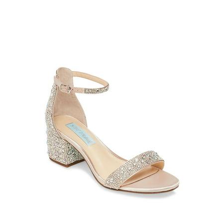 Blue Mari Embellished Sandals Betsey Johnson Ladies Platform
