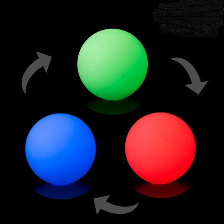 PLAY GLOW BALL - 70 MM - 150 GR (Strobe) 1 Single Juggling Ball