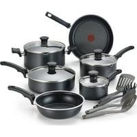 T-Fal Comfort Non-stick Dishwasher Safe Black Cookware, 14 Piece