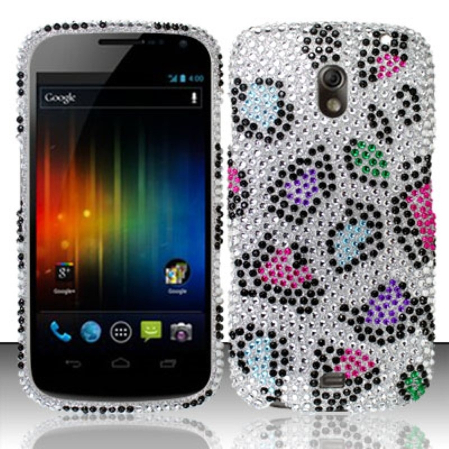 Insten Colorful Leopard Diamond Phone Case Hard Cover For Samsung Galaxy Nexus CDMA i515