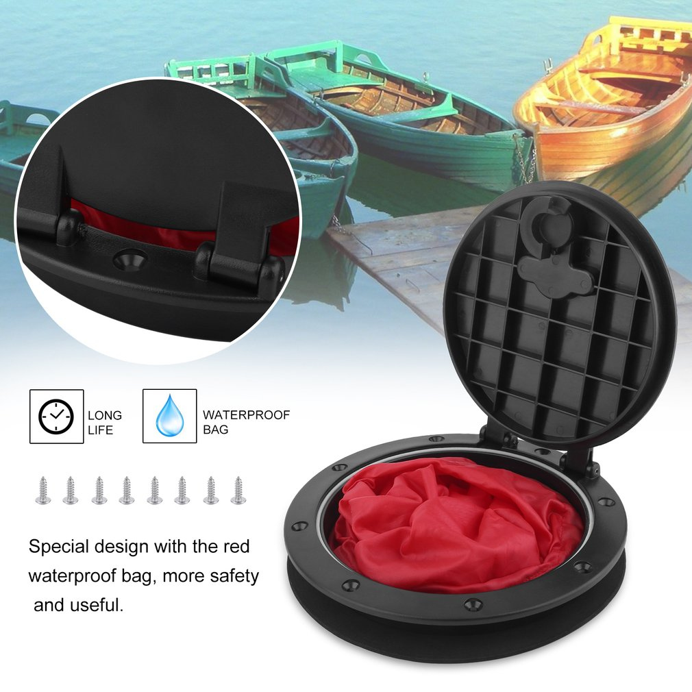6 Inch Waterproof Hatch Cover Deck Plate Kit With Storage Bag For Marine Boating Kayak... by