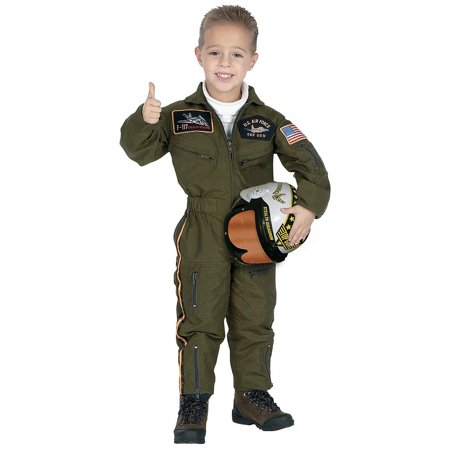 Aeromax Jr. Armed Forces Pilot Suit with Helmet Costume](Pinstripe Suit Costume)