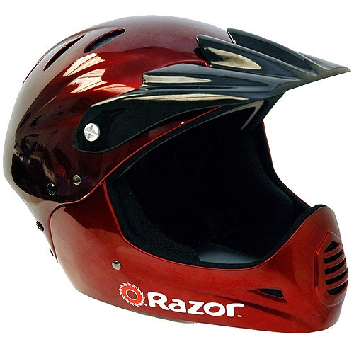 Razor Black Cherry Full-Faced Helmet, Youth