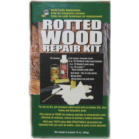 - PC PRODUCTS 84113 Rotted Wood Repair Kit, w/Epoxy and Paste