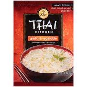 Thai Kitchen Gluten Free Garlic & Vegetable Instant Rice Noodle Soup, 1.6 oz