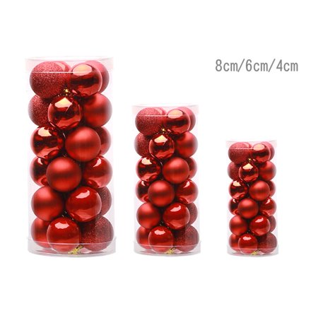 24 PCS Shiny Christmas Tree Ball Baubles Party Wedding Decor Hanging Ornament - image 4 of 6