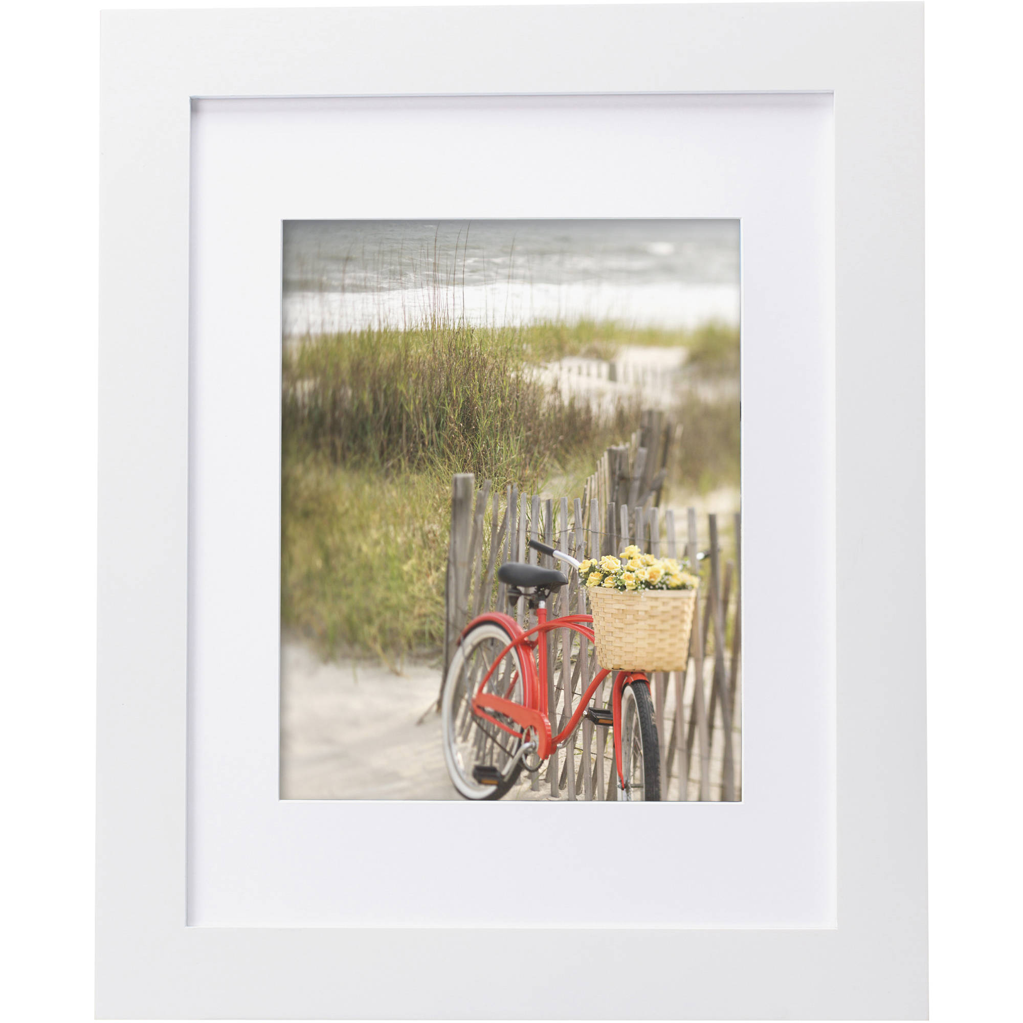 """Mainstays Museum 11"""" x 14"""" Matted to 8"""" x 10"""" Picture Frame, White by Uniek"""