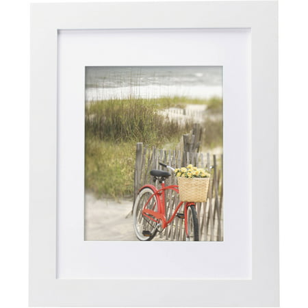 "Mainstays Museum 11"" x 14"" Matted to 8"" x 10"" Picture Frame, White"