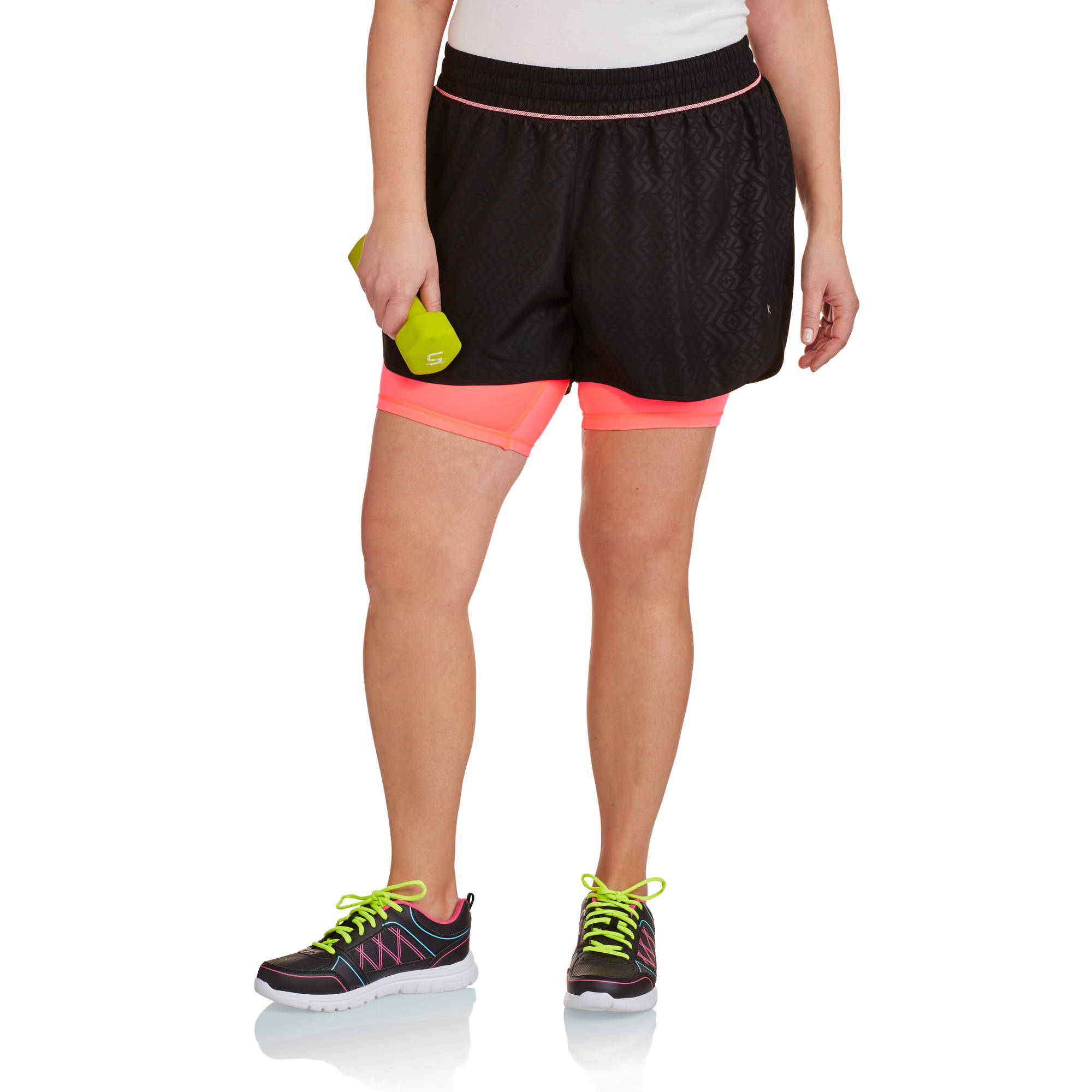 Danskin Now Women's Plus-Size  Active Base Layer Short