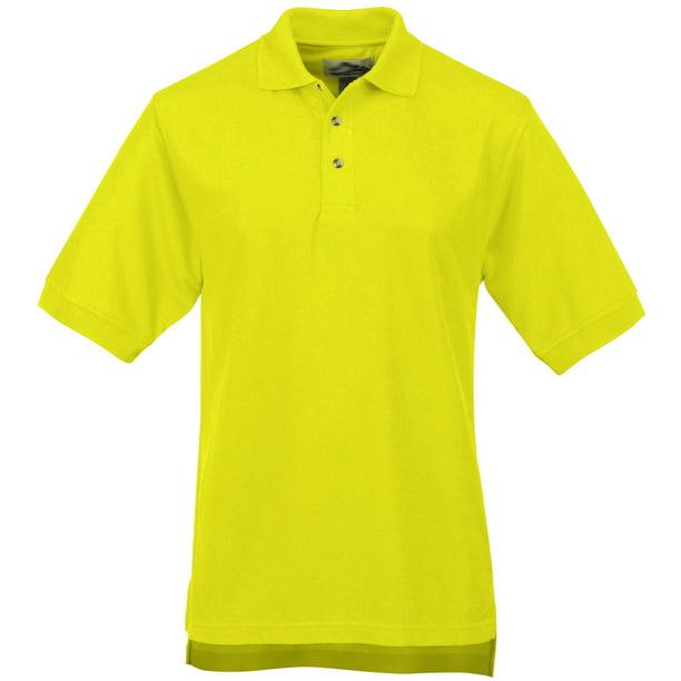 Men's High Visibility Moisture-Wicking Polo Shirt - Lime Green, 5XL