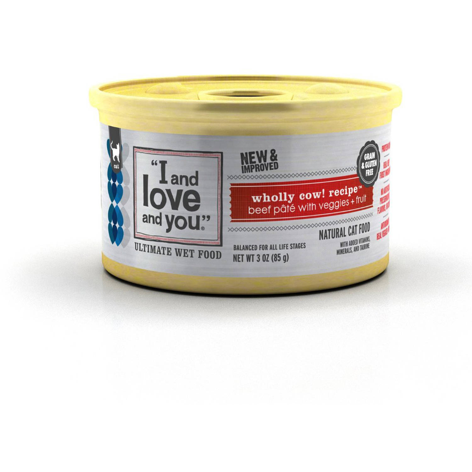 I And Love And You Wholly Cow! Recipe Wet Cat Food, 3 Oz. Cans (24-Pack)