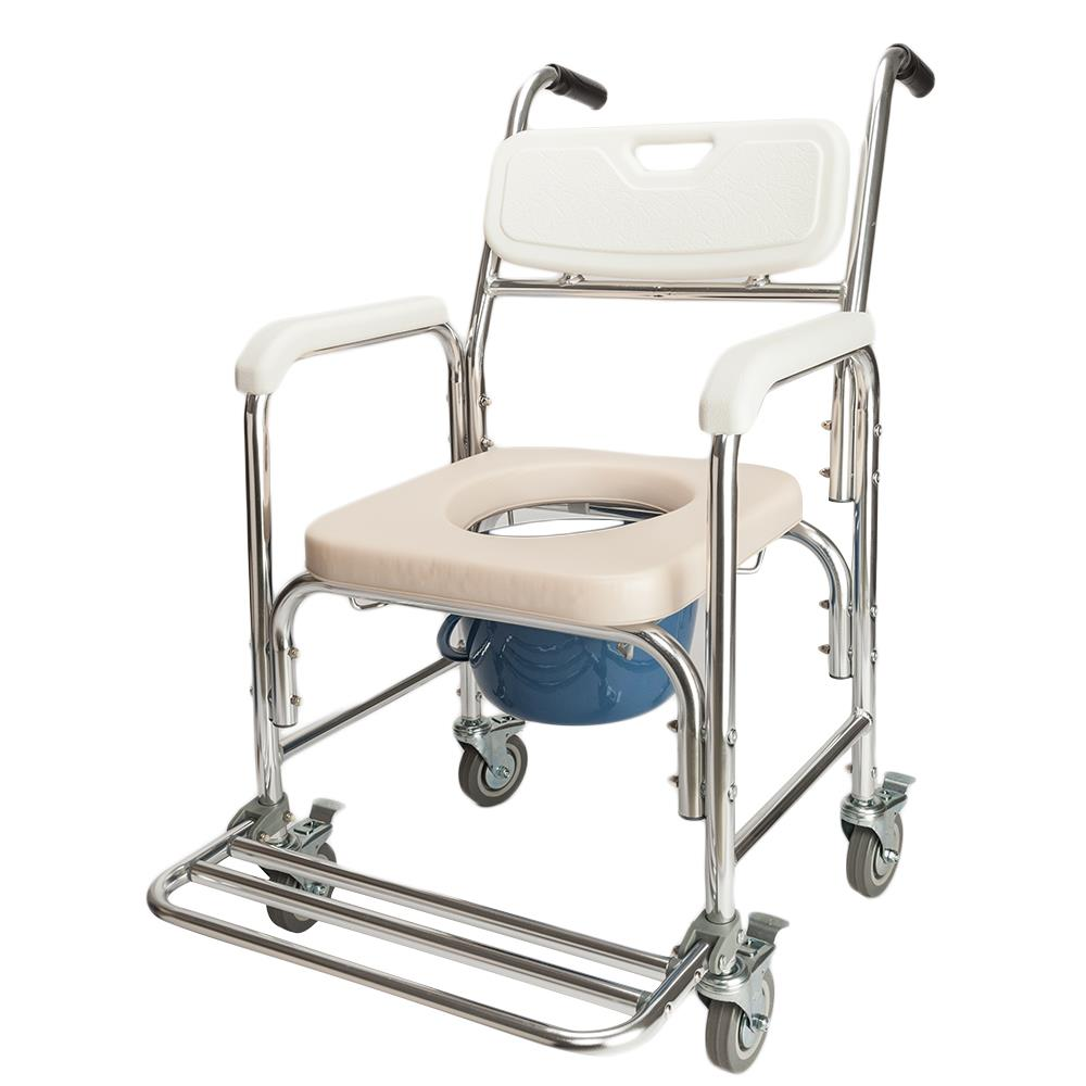 Ktaxon Commode Chair Multifunctional Aluminum Elder People Disabled People Pregnant Women Bath Chair White