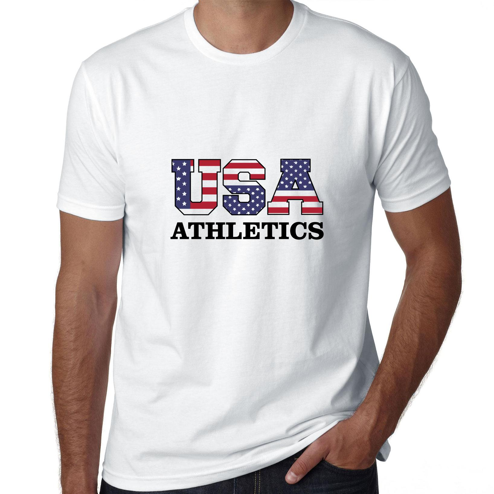 USA Athletics - Olympic Games - Rio - Flag Men's T-Shirt