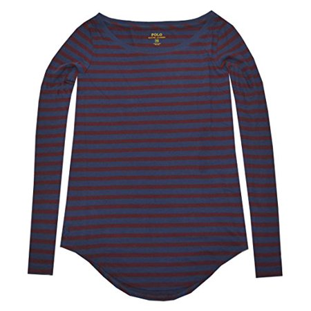 Polo Ralph Lauren Women Long Sleeve Stripe Tee (Small, Italian