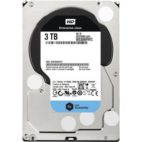 """WD WD3000F9YZ 3 TB 3.5"""" Internal Hard Drive - SATA - 7200 - 64 MB Buffer"""