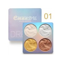 Baked Contour Highlighting Palette, Waterproof Long-Lasting, 4 Powder Shades