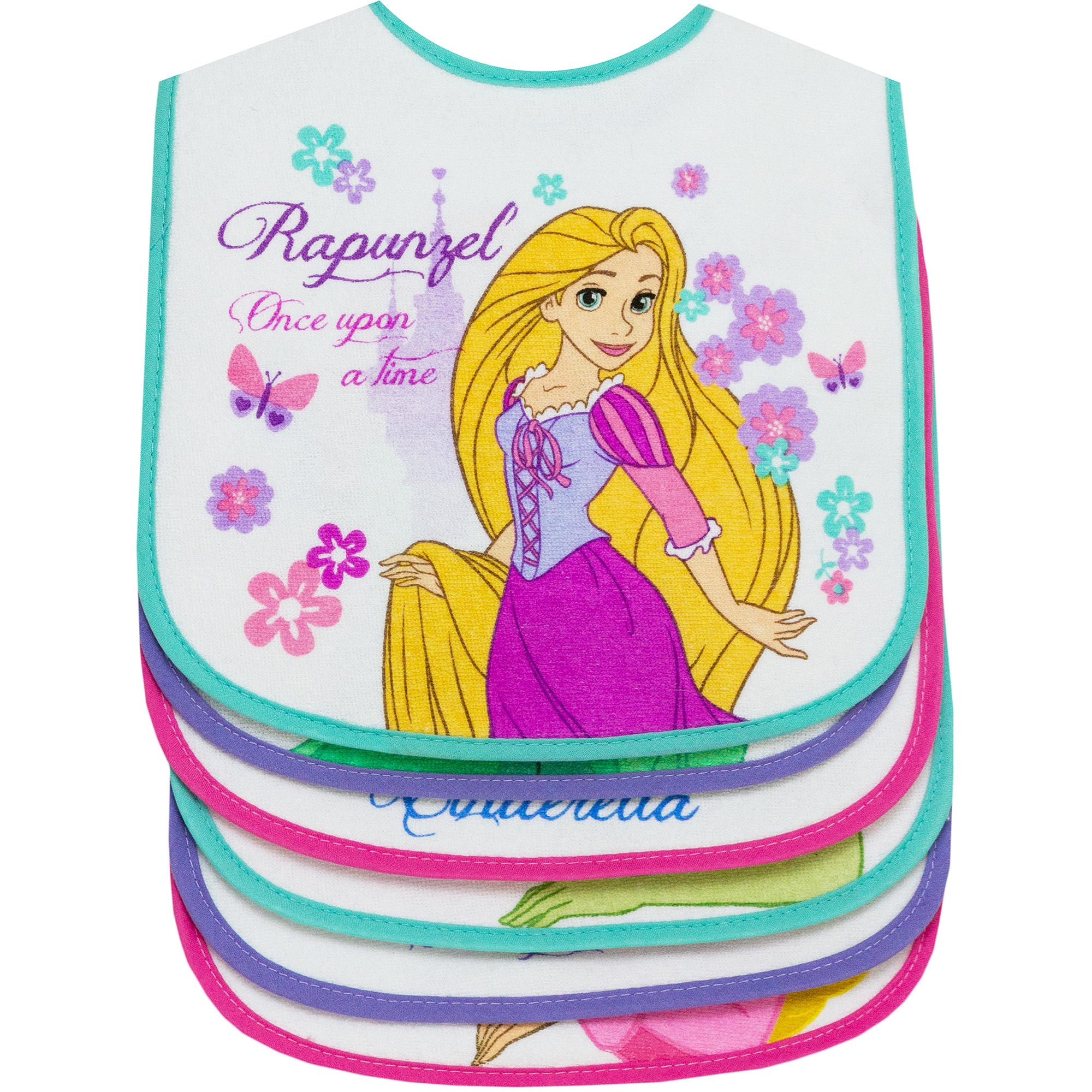 Disney Princess Ap 6pk Girls Feeder Bibs