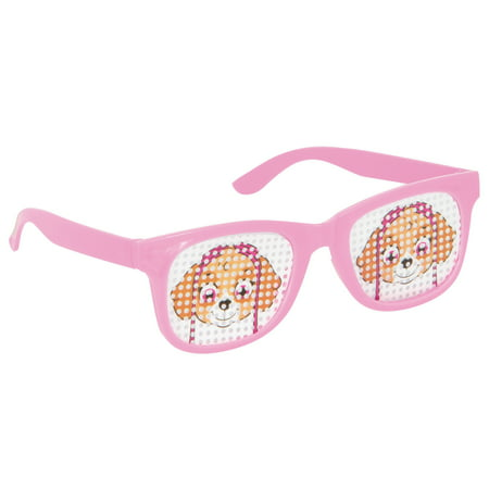 Skye PAW Patrol Pinhole Novelty Glasses Party Favors, Pink, 4ct](Patrol Party)