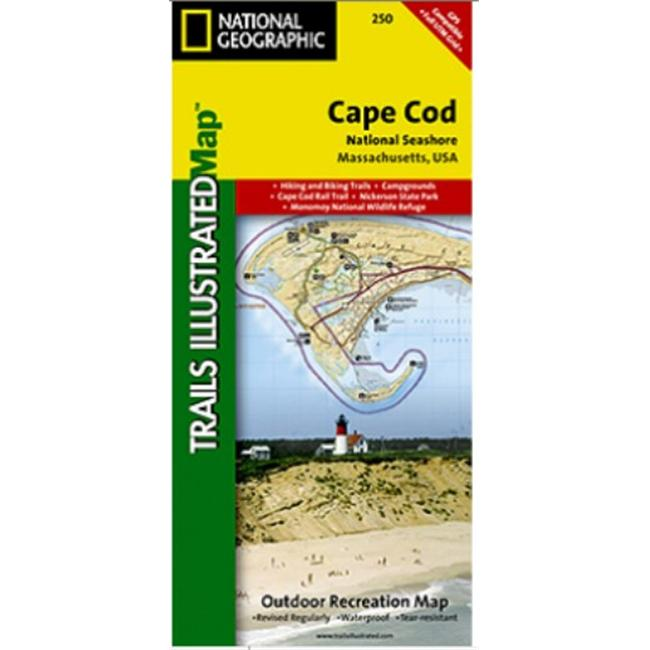 National Geographic TI00000250 Map Of Cape Cod National Seashore - Massachusetts