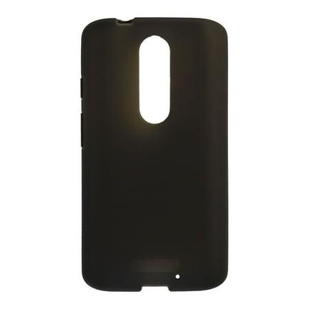 Verizon Housing - Verizon Silicone Cover Protective Case for Motorola Droid Turbo 2 - Matte Black