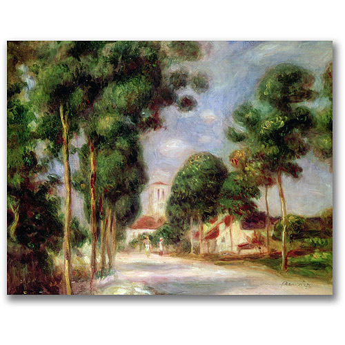 "Trademark Fine Art ""The Road to Essoyes"" Canvas Wall Art by Pierre Renoir"