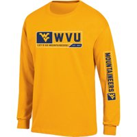 Men's Russell Athletic Gold West Virginia Mountaineers Team Long Sleeve T-Shirt
