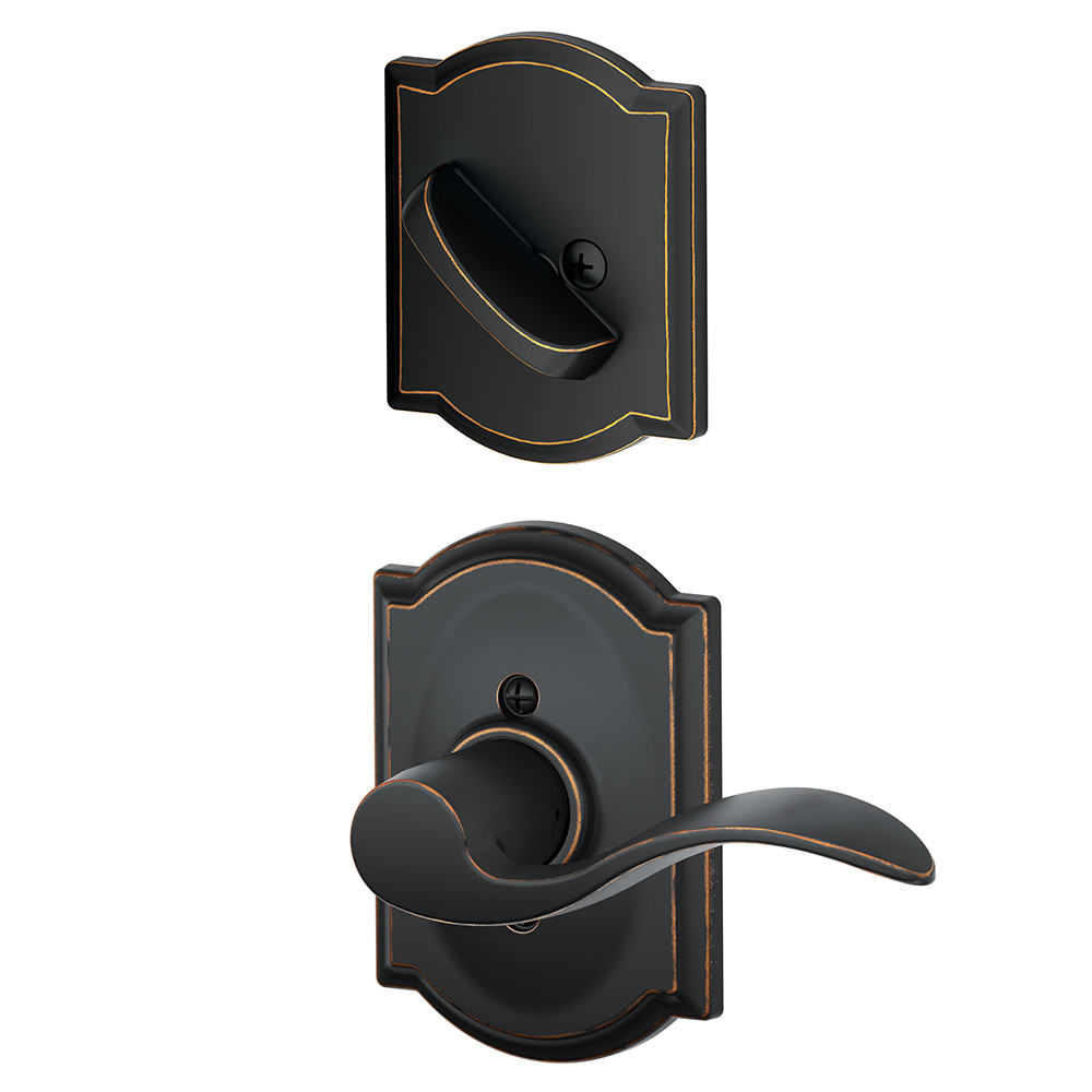 Schlage F Series Accent Interior Pack with Camelot Rosette