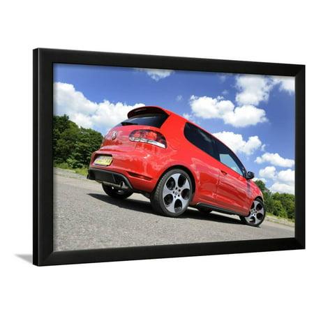 448e1cffa VW Golf GTI mk 6 2008 Framed Print Wall Art By Simon Clay - Walmart.com
