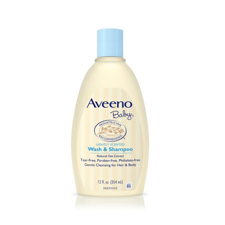 Aveeno Baby Gentle Wash & Shampoo with Natural Oat Extract, 12 fl. oz