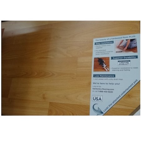 Harmonics Golden Aspen Laminate Flooring 22 0875 Sq Ft 9 Planks