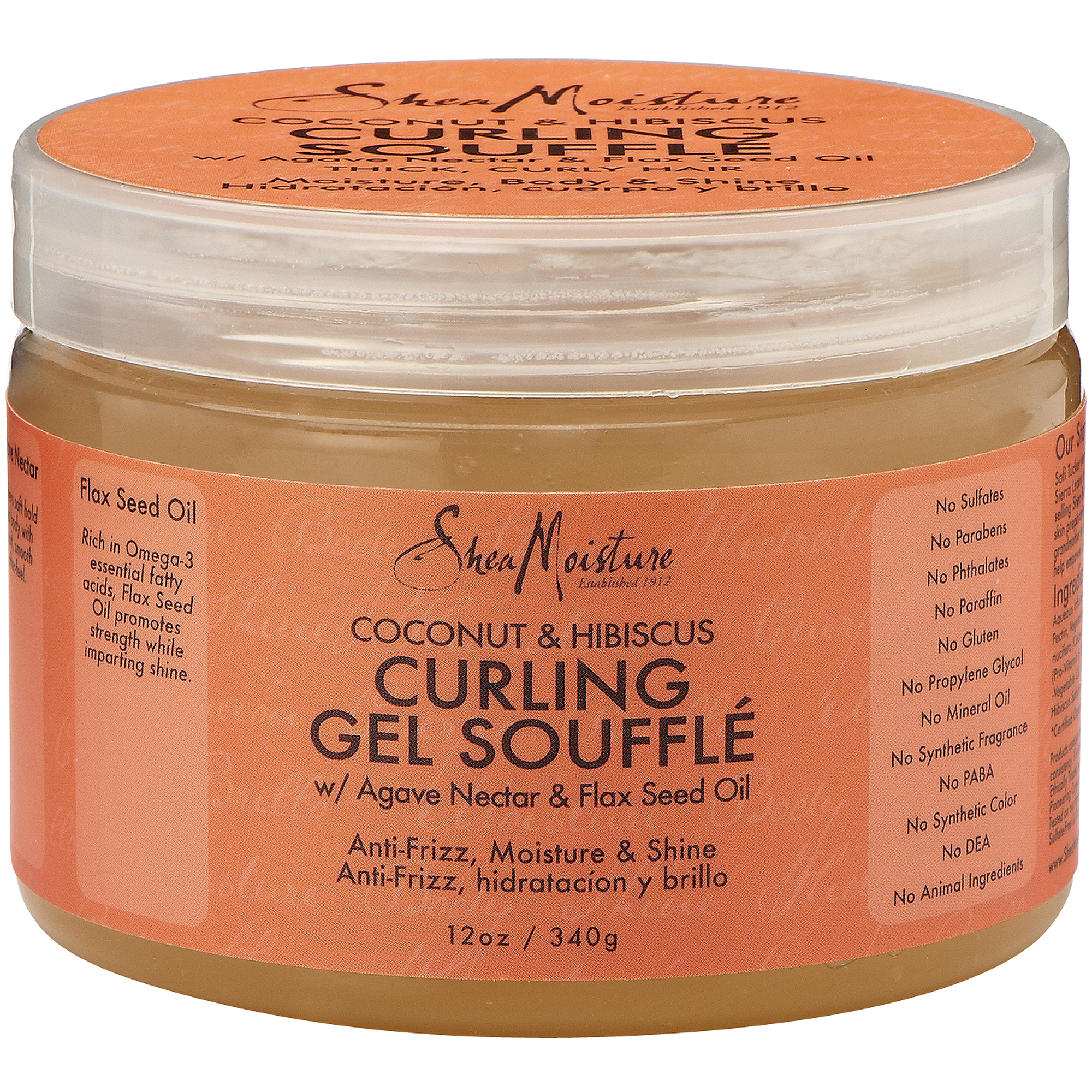 SheaMoisture Coconut & Hibiscus Curling Gel Souffle, 12 oz