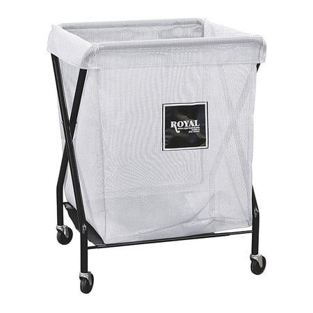 X-Frame Cart,8 Bu,White Mesh ROYAL BASKET TRUCK G08-WWX-XMA-3ONN