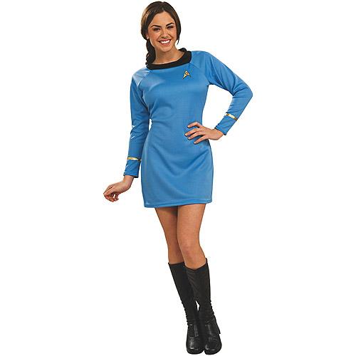 Star Trek Classic Deluxe Dress Adult Halloween Costume, Blue