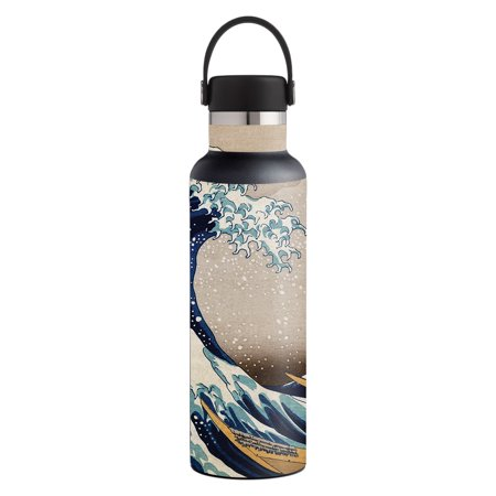 MightySkins Skin for Hydro Flask 21 oz. Standard Mouth - Acanthus | Protective, Durable, and Unique Vinyl Decal wrap cover | Easy To Apply, Remove, and Change Styles | Made in the USA