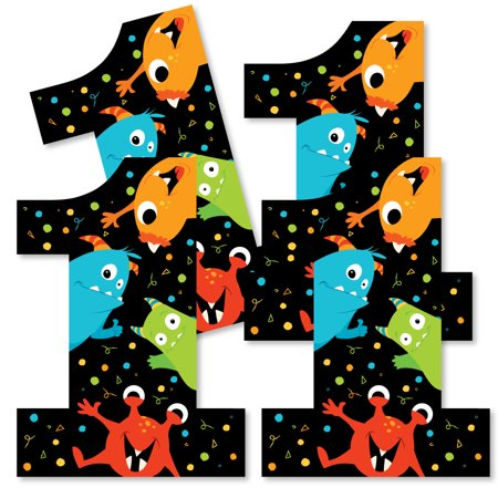 1st Birthday Monster Bash - One Shaped Decorations DIY Little Monster First Birthday Party Essentials - Set of 20