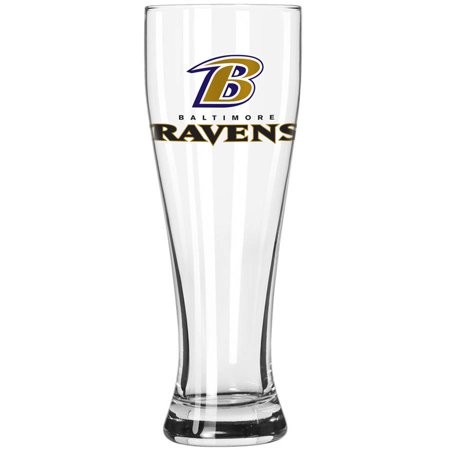 Boelter Brands NFL Baltimore Ravens 23-Ounce Grand Pilsner with Full Color Team Logo - Raven Bar Dc