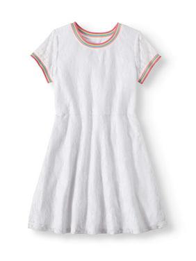 291cce75c9 Product Image Rainbow Trim Lace Dress (Little Girls