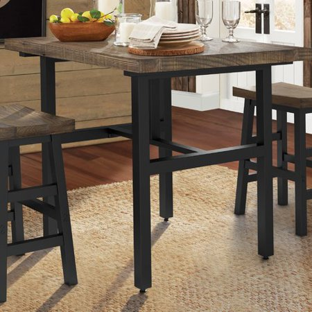 Loon Peak Somers Reclaimed Wood Counter Height Dining Table - Reclaimed wood counter height dining table