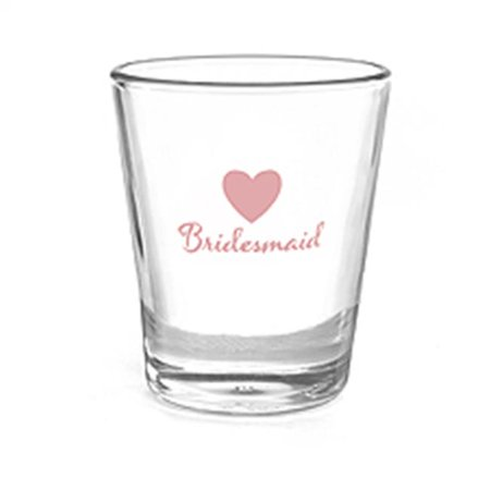 Bridesmaid Shot Glasses (Heart Wedding Party Shot Glass -)