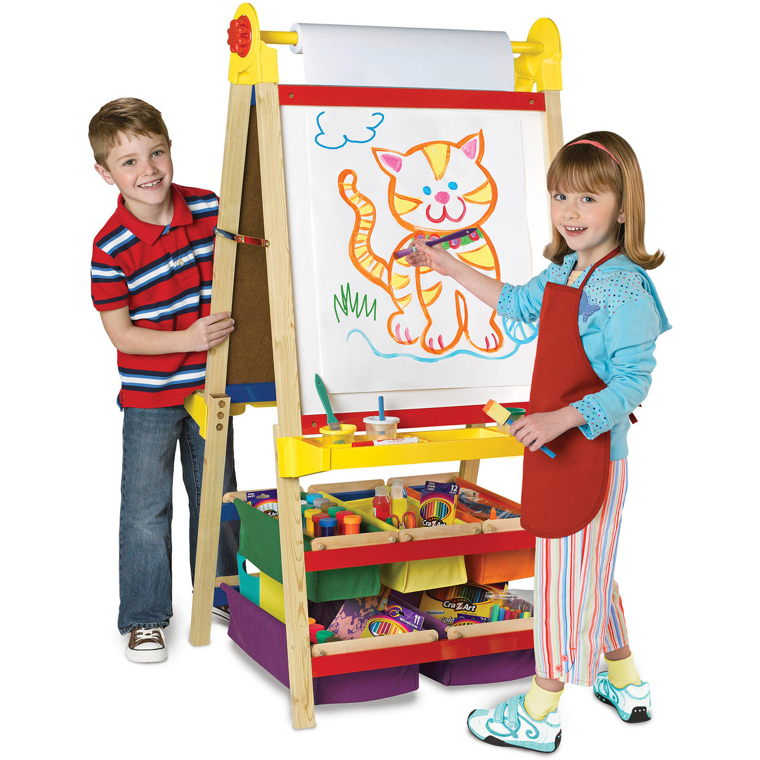 Cra-Z-Art 4-in-1 Wood Standing Ultimate Art Easel by CRA-Z-ART